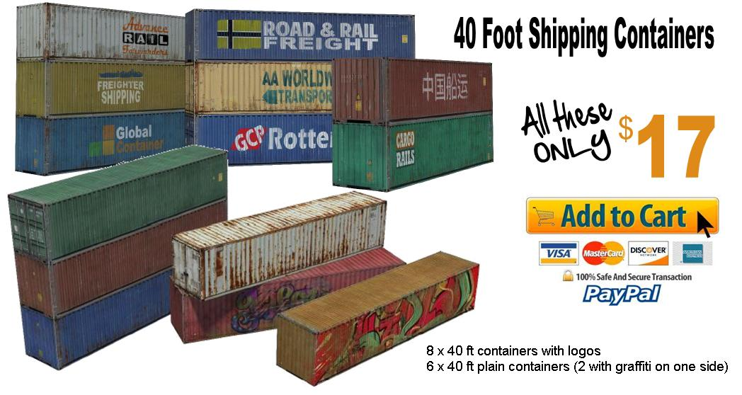 buy scale model containers