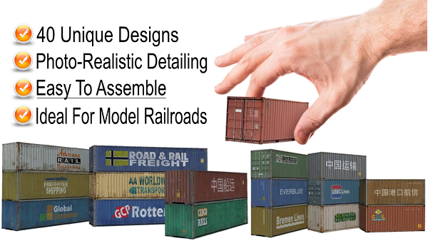 scale shipping container models